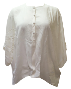 Cream Silk Button-down Blouse
