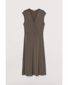 Tricot Jurk Donkertaupe