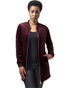 Damen Ladies Long Velvet Jacket