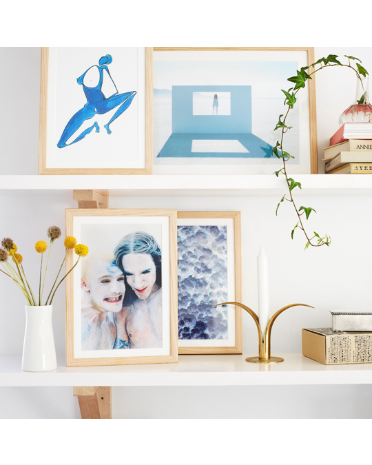 Poppy Posters In The Blue 21x30