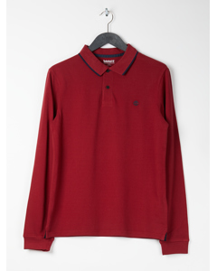 Ls Gd Pique Polo Slim Pomegranate