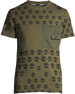 Ss Pocket Tee T2 Olive Night Camo