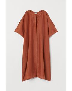 Pe Helios Solid Dress Orange