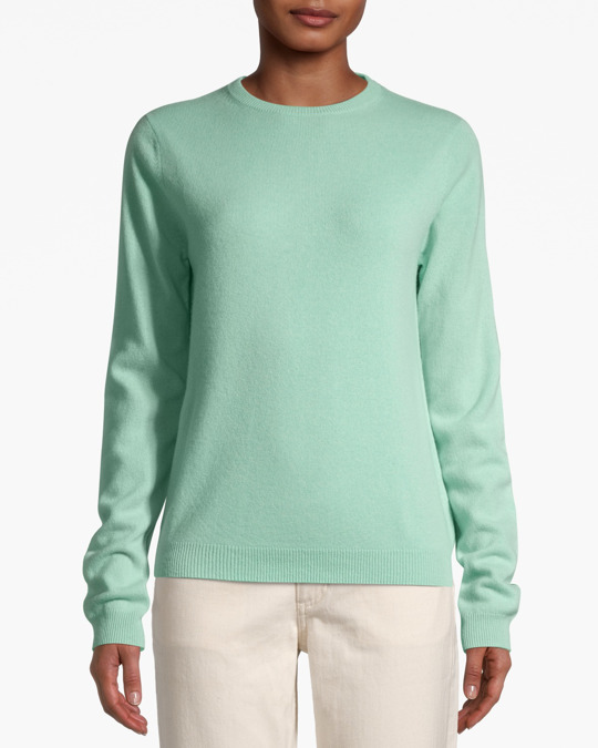 People's Republic of Cashmere Women's Roundneck Miami Green