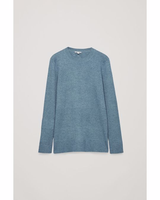 COS Mix-Rib Jumper Turquoise / Silver