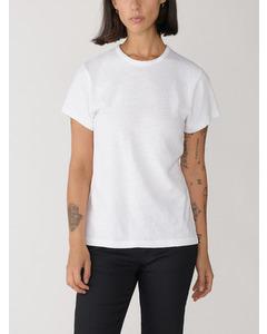 Short Sleeved Linen T-shirt White