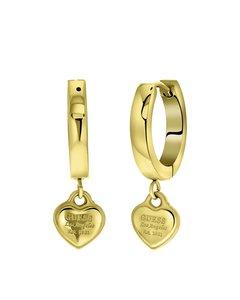 Guess-Ohrringe, Edelstahl, vergoldet, Herz, 15 mm