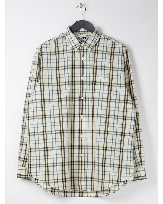 HOPE Super Shirt Beige Check