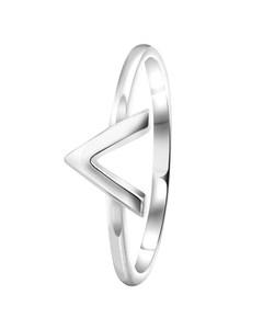 Zilveren Ring V Rhodiumplated