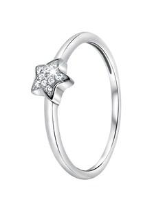 Zilveren Ring Ster Met Zirkonia