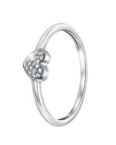 Zilveren Ring Hart Met Zirkonia