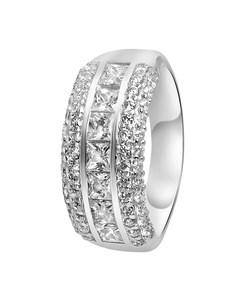Ring, 925 Silber, breit, mit Zirkonia