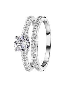 Ring aus 925 Silber, 2-teilig, mit Zirkonia