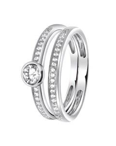 Zilveren Ring 2in1 Met Zirkonia
