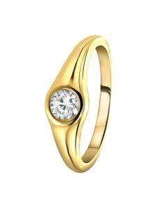 Vergoldeter Silberring mit Zirkonia