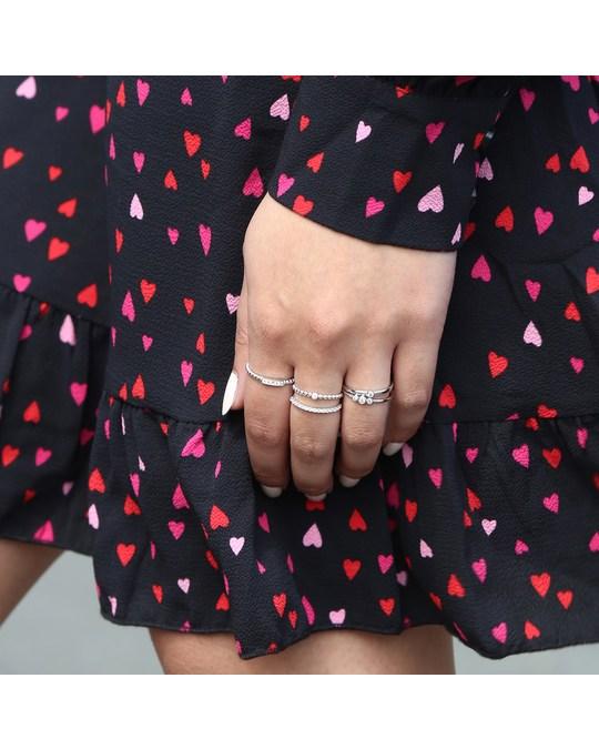 Lucardi Zilveren Ring Bolletjes Met Zirkonia