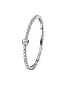 Zilveren Ring Bolletjes Met Zirkonia