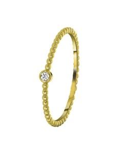 925 Silber-Ring, vergoldet, Kugeln mit Zirkonia