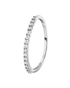 925 Silber-Ring mit einer Reihe Zirkonia-Besatz