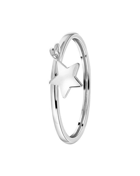 Lucardi Zilveren Ring Dangle Ster