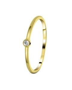 Zilveren Ring Goldplated Met Zirkonia