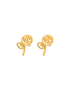 Snap Earrings Rose Gold