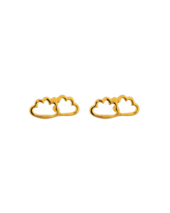 Snap Earrings Cloud Gold