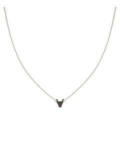 Snap Necklace Bulls Head Silver