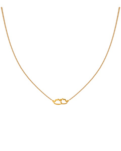 Snap Necklace Cloud Gold