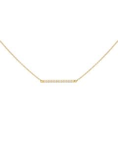 Strict Sparkling Line Necklace Gold