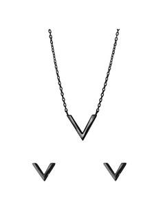 Zilveren Set Blackplated V