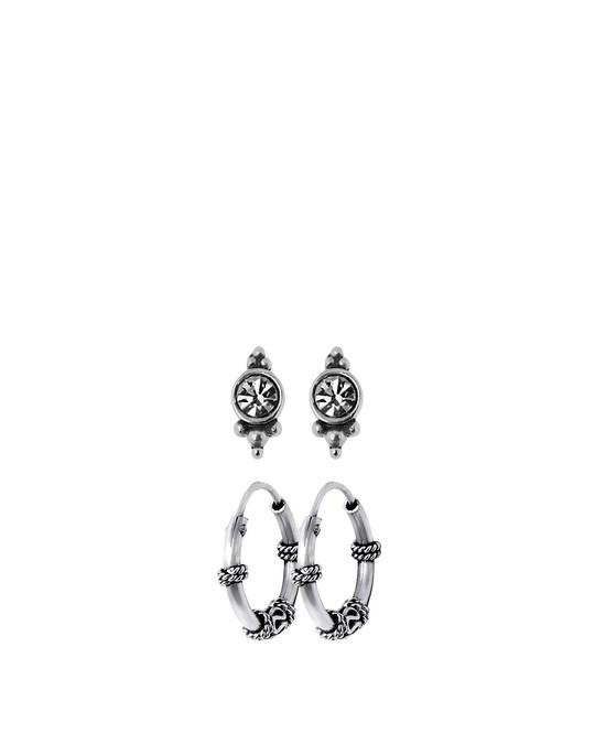 Lucardi Zilveren Set Bali Met Kristal