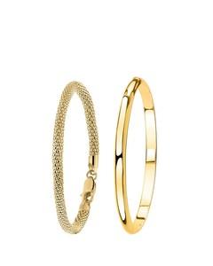 Zilveren Set Goldplated Met Twee Armbanden