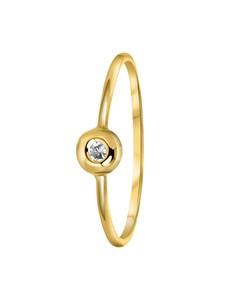 Ring, 585 Gelbgold, mit Zirkonia