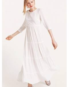 Joni Tiered Maxi Dress White