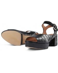 Pennie Sandal Croco 112 Black Croco