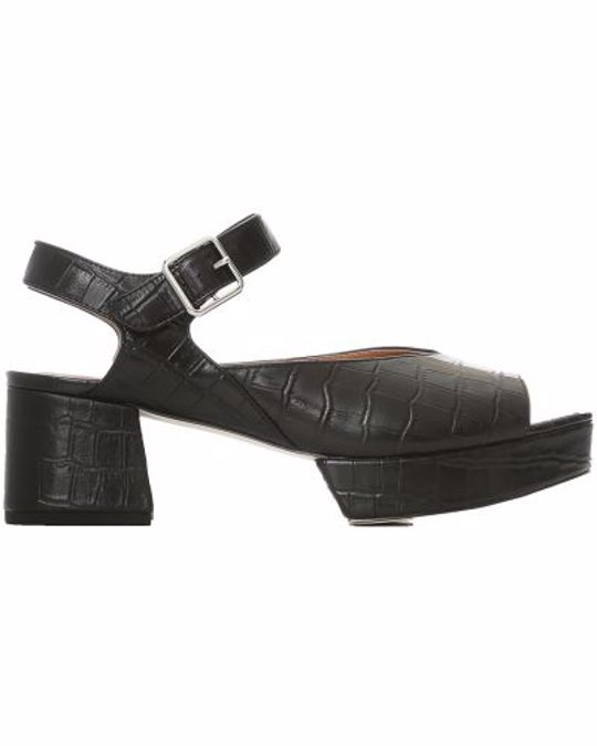 SHOE THE BEAR Pennie Sandal Croco 112 Black Croco