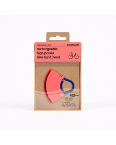 Bike Light - Curve Rear Light Neon Coral Pink/dark Blue