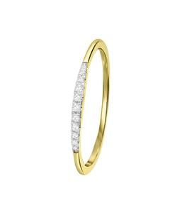 Ring, 585 Gelbgold mit Diamanten (0,06 kt)
