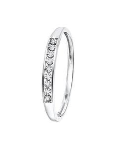 14 Karaat Witgouden Ring Met Diamant (0,02ct)