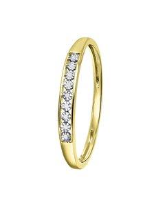 14 Karaat Geelgouden Ring Met Diamant (0,02ct)
