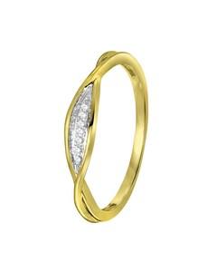 14 Karaat Geelgouden Ring  Met Diamant