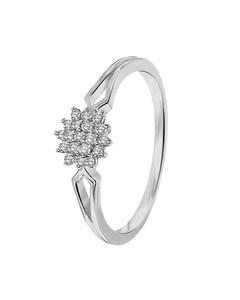 14 Karaat Witgouden Ring Entourage Met Diamant