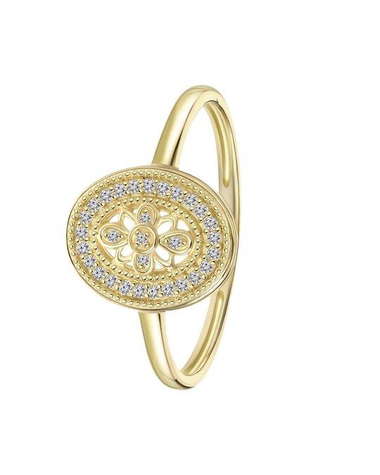 Lucardi 14 Karaat Geelgouden Ring 30 Diamanten (0,07ct)