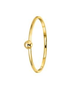 Ring aus 585 Gelbgold mit einer 3 mm großen Kugel