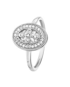 Ring aus 585 Weißgold mit 30 Diamanten (0,07 ct)