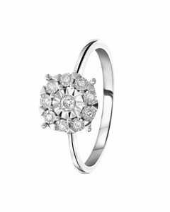 Ring aus 585 Weißgold mit Diamant (0,10 ct)