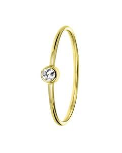 Ring, 585 Gelbgold, weißer Zirkonia