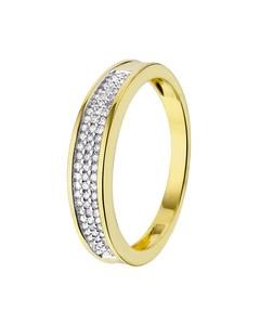 14 Karaat Geelgouden Ring Met Diamant 0,20ct