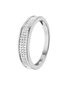 14 Karaat Witgouden Ring Met Diamant 0,20ct
